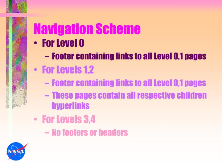 Navigation Scheme