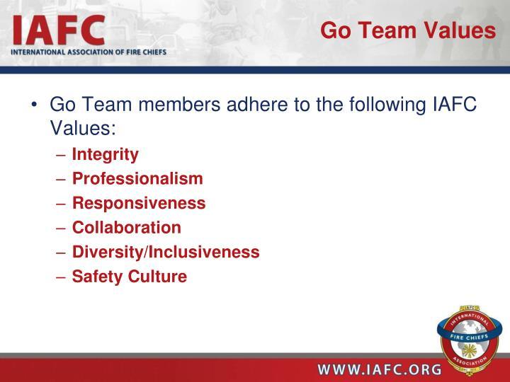 Go Team Values