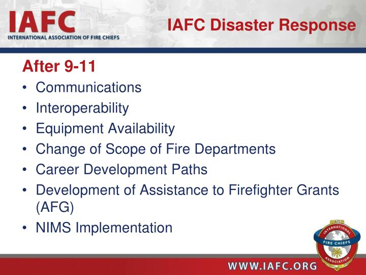 IAFC Disaster Response