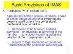 basic provisions of imas10