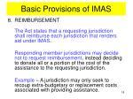 basic provisions of imas13
