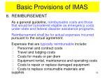 basic provisions of imas14
