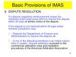 basic provisions of imas15