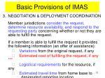 basic provisions of imas5