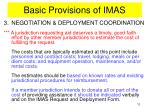 basic provisions of imas6