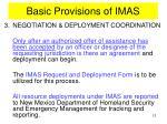basic provisions of imas7