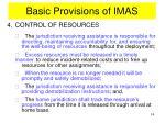 basic provisions of imas9