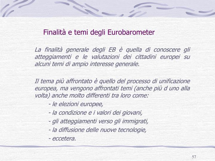 Finalità e temi degli Eurobarometer