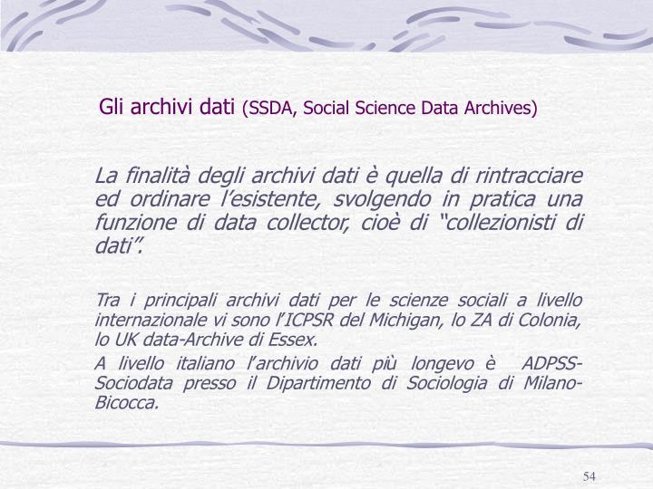 Gli archivi dati