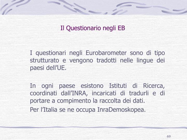 Il Questionario negli EB