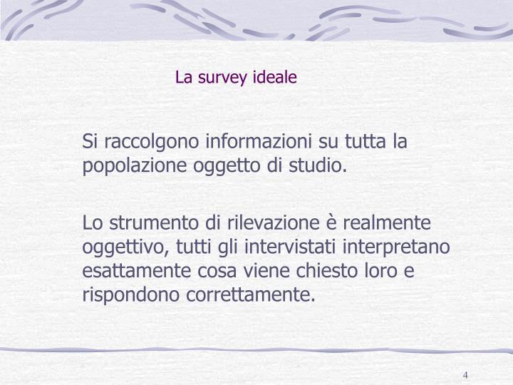 La survey ideale