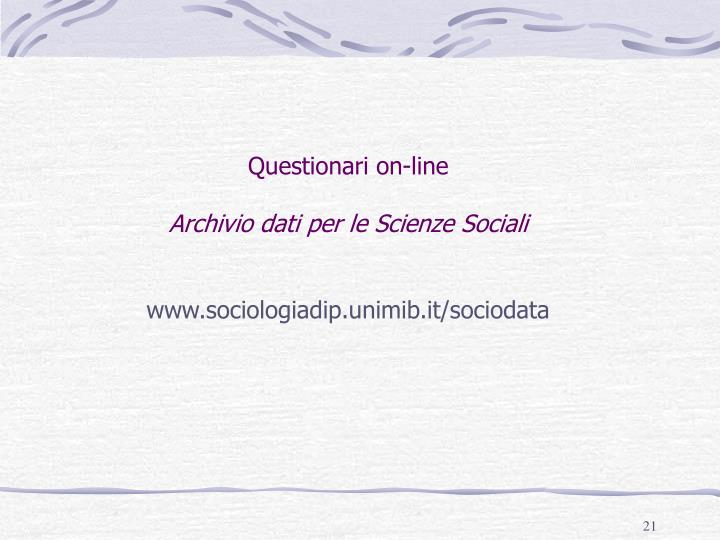 Questionari on-line