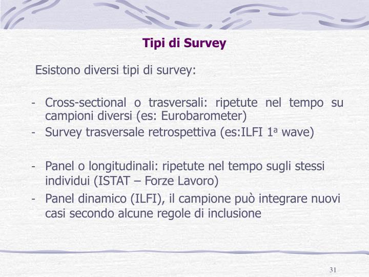 Tipi di Survey
