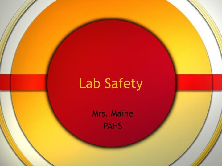 lab safety n.