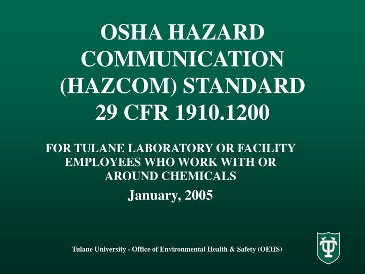 osha hazard communication hazcom standard 29 cfr 1910 1200 n.
