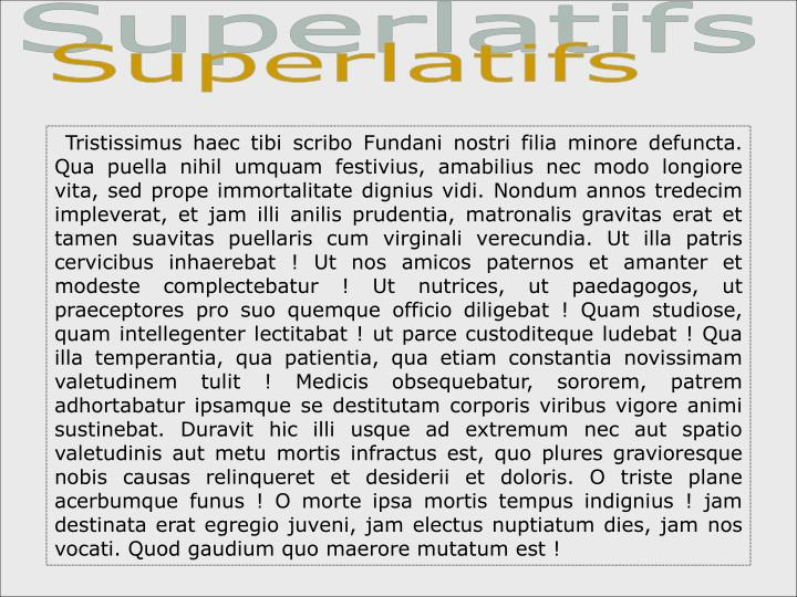 Superlatifs