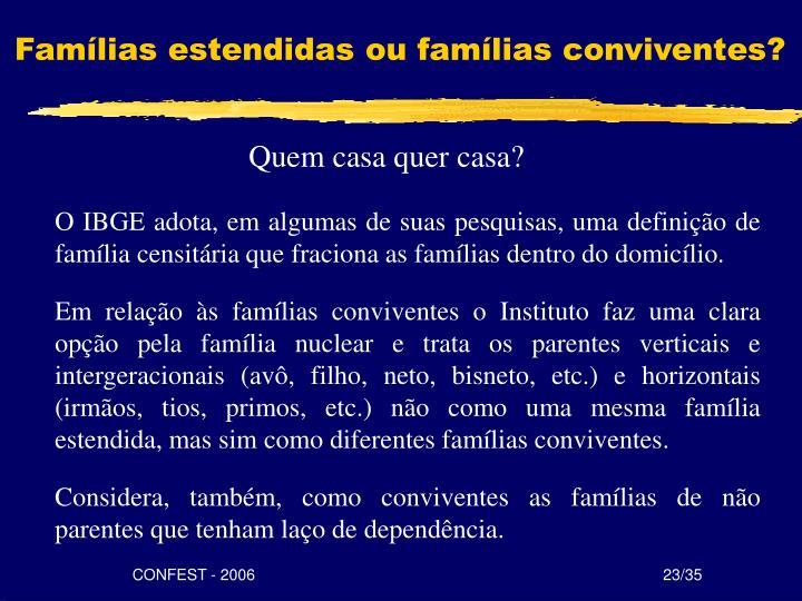 Famílias estendidas
