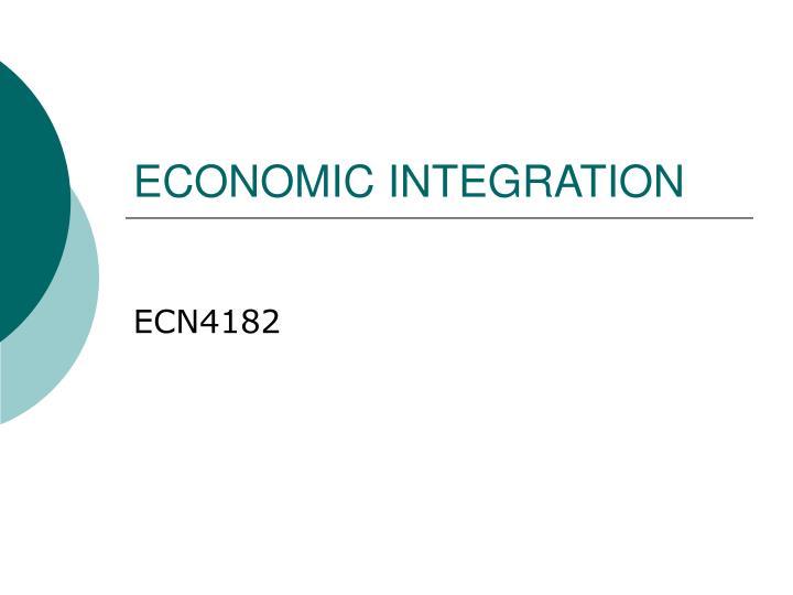 economic integration n.