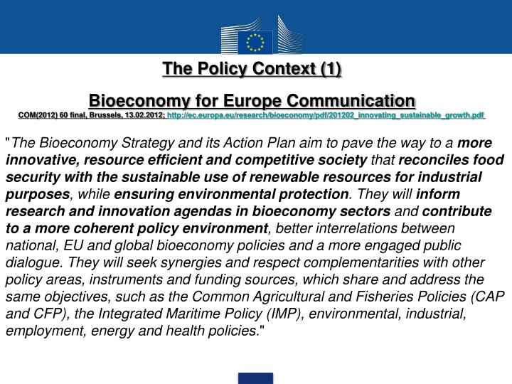 The Policy Context (1)