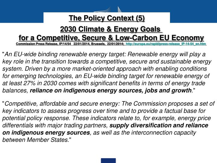 The Policy Context (5)