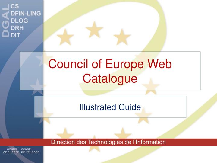 council of europe web catalogue n.