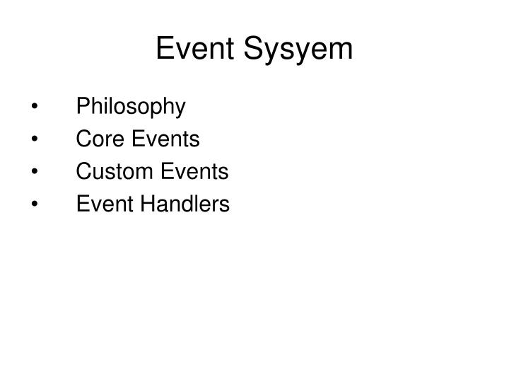 Event Sysyem