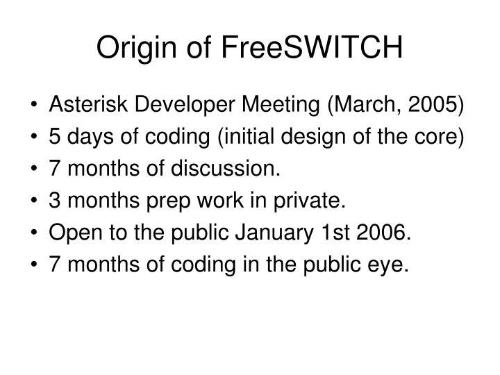 Origin of freeswitch