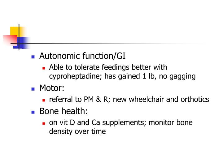 Autonomic function/GI