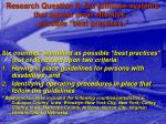research question 6 surveillance systems that appear most effective possible best practices