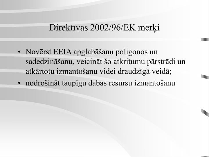 Direktīvas 2002/96/EK mērķi