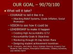 our goal 90 70 100