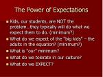 the power of expectations