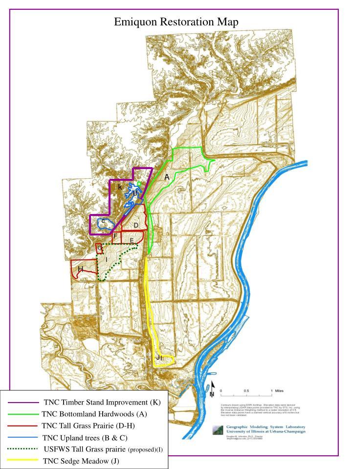 Emiquon Restoration Map