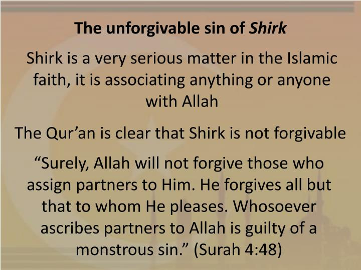 The unforgivable sin of