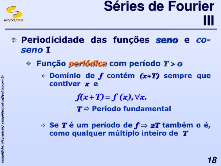 Séries de Fourier III