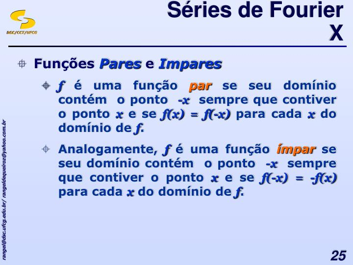 Séries de Fourier X