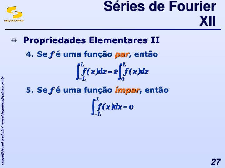 Séries de Fourier XII