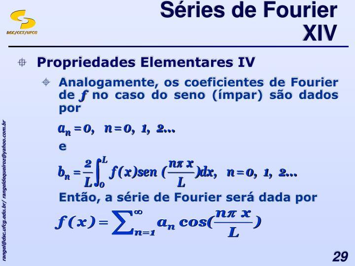 Séries de Fourier XIV
