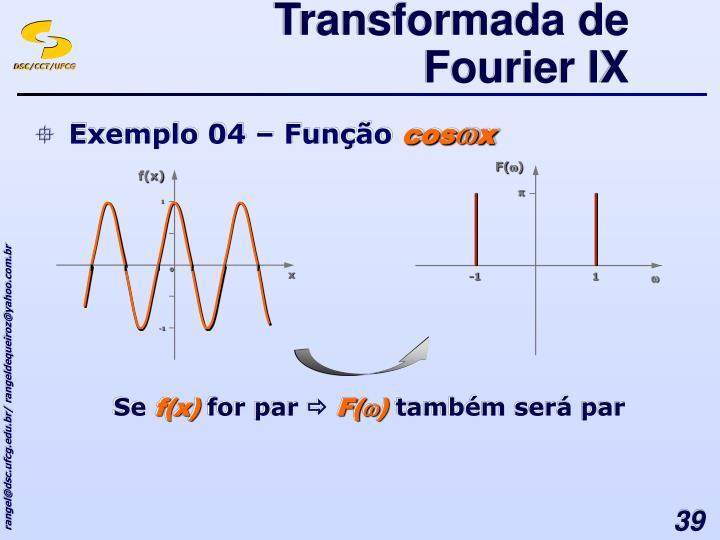 Transformada de Fourier IX