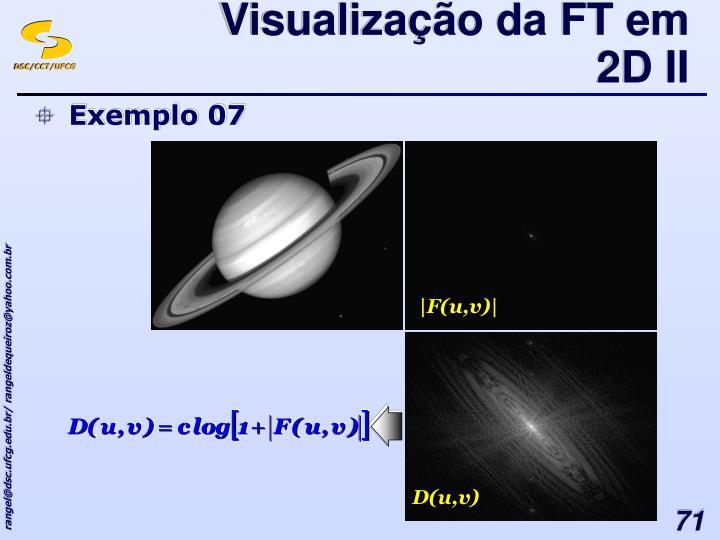 Visualização da FT em 2D II