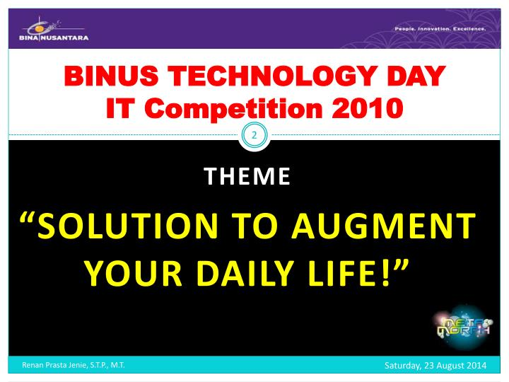 Binus technology day it competition 2010