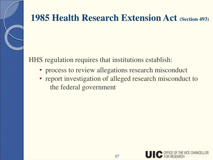 1985 Health Research Extension Act