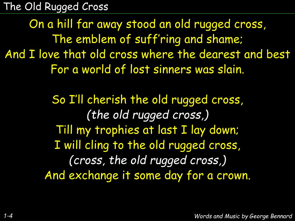 Ppt The Old Rugged Cross Point