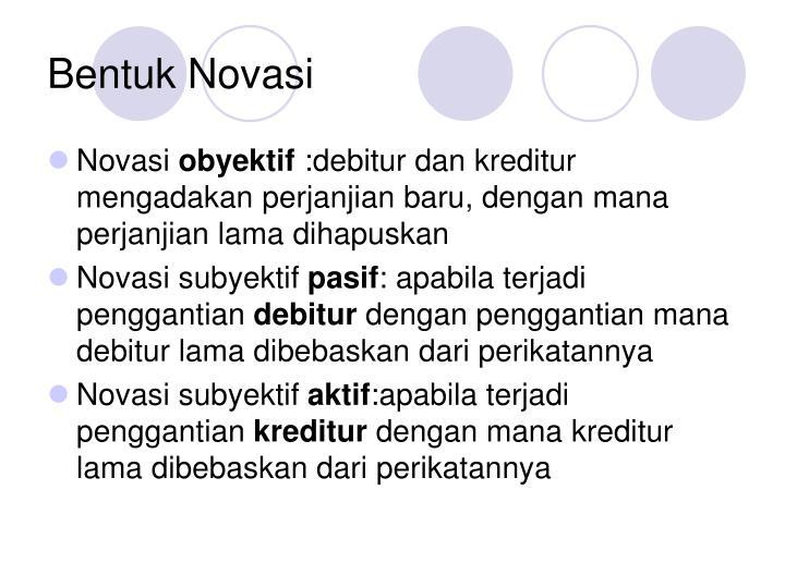 Bentuk Novasi