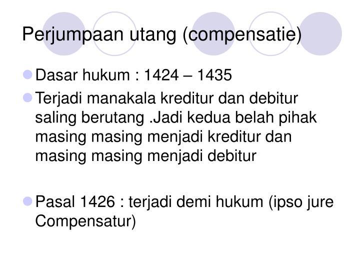 Perjumpaan utang (compensatie)