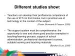 different studies show1