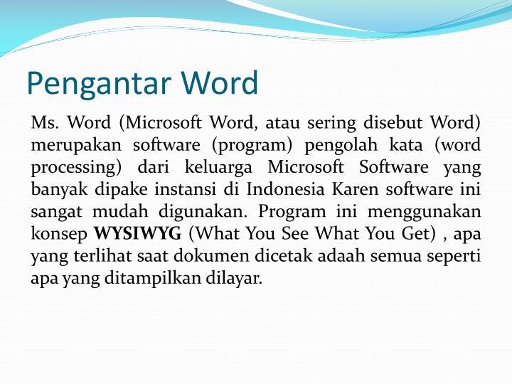 Pengantar word