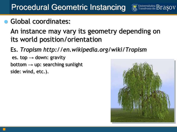Procedural Geometric Instancing