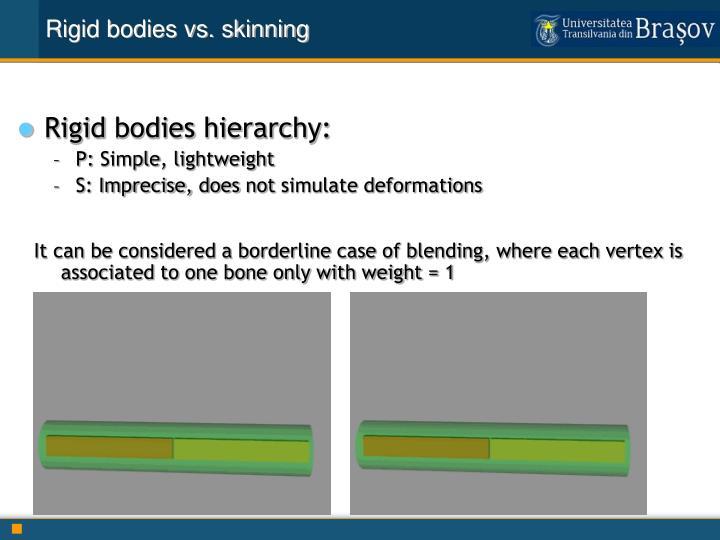 Rigid bodies vs. skinning
