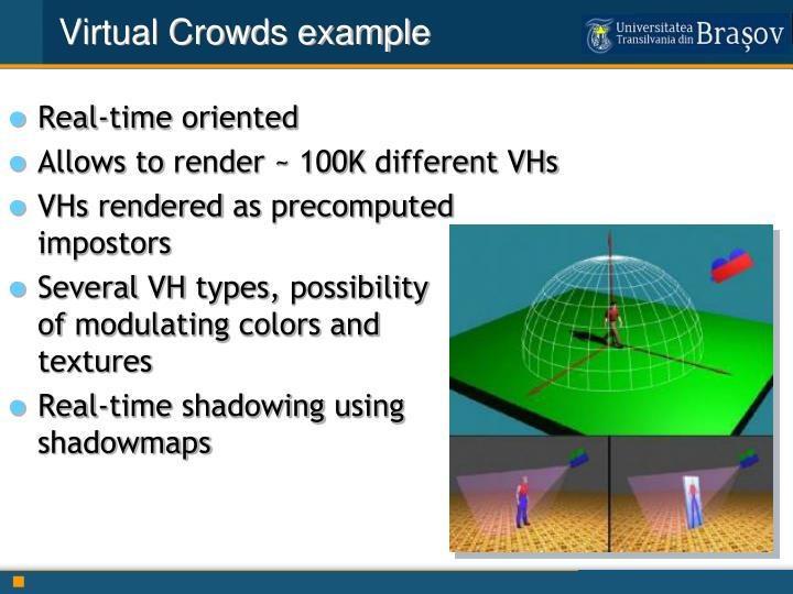 Virtual Crowds example